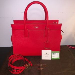 Kate Spade Candace Satchel in Rooster Red